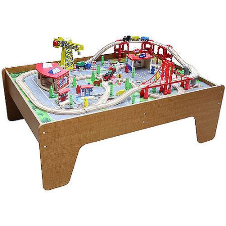 100 piece cityscape train set and wooden activity table ebay