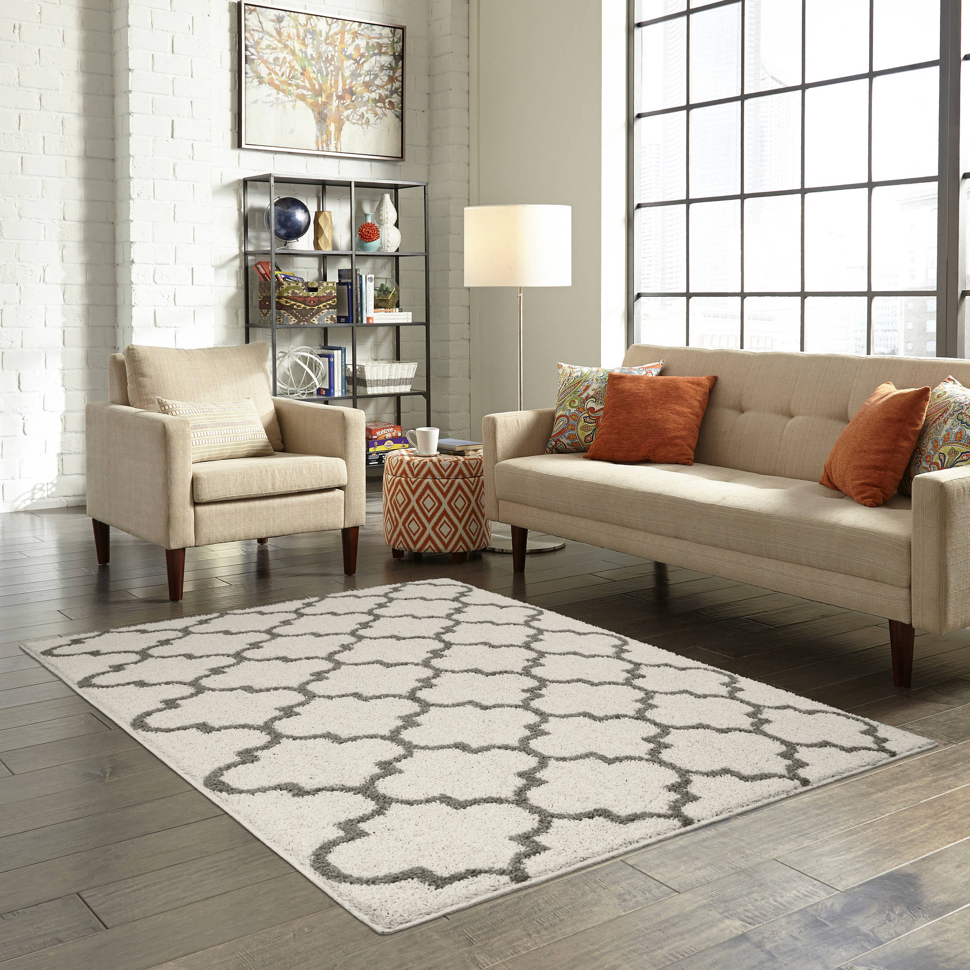 com rug rugs and kitchen soft amazon plush dp solid easy area cozy shag