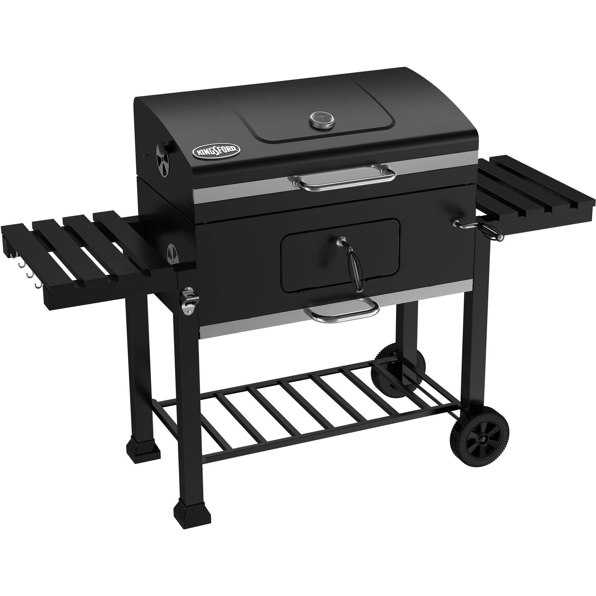 """Kingsford 32"""" Charcoal Grill Smoker Picnic Outdoor Black"""