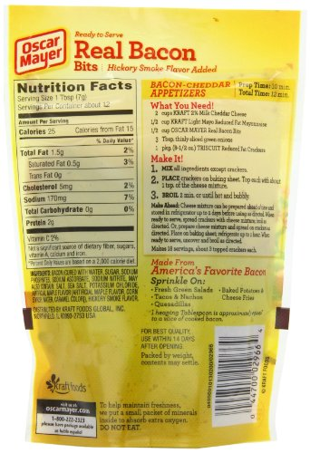 Real Bacon Bits, 3-Ounce Pouches (Pack