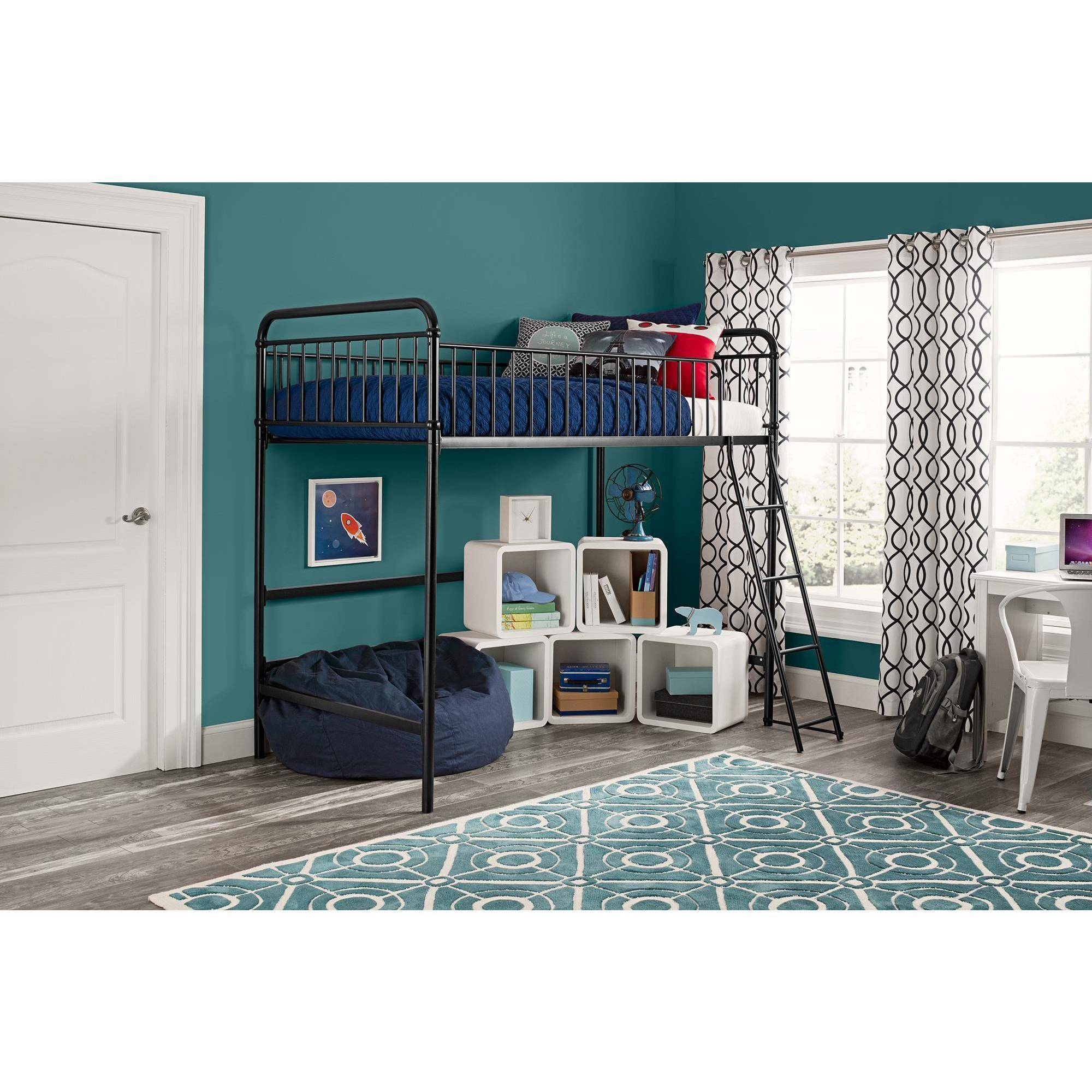 Image is loading Better Homes and Gardens Kelsey Twin Metal Loft. Better Homes and Gardens Kelsey Twin Metal Loft Bed  White   eBay