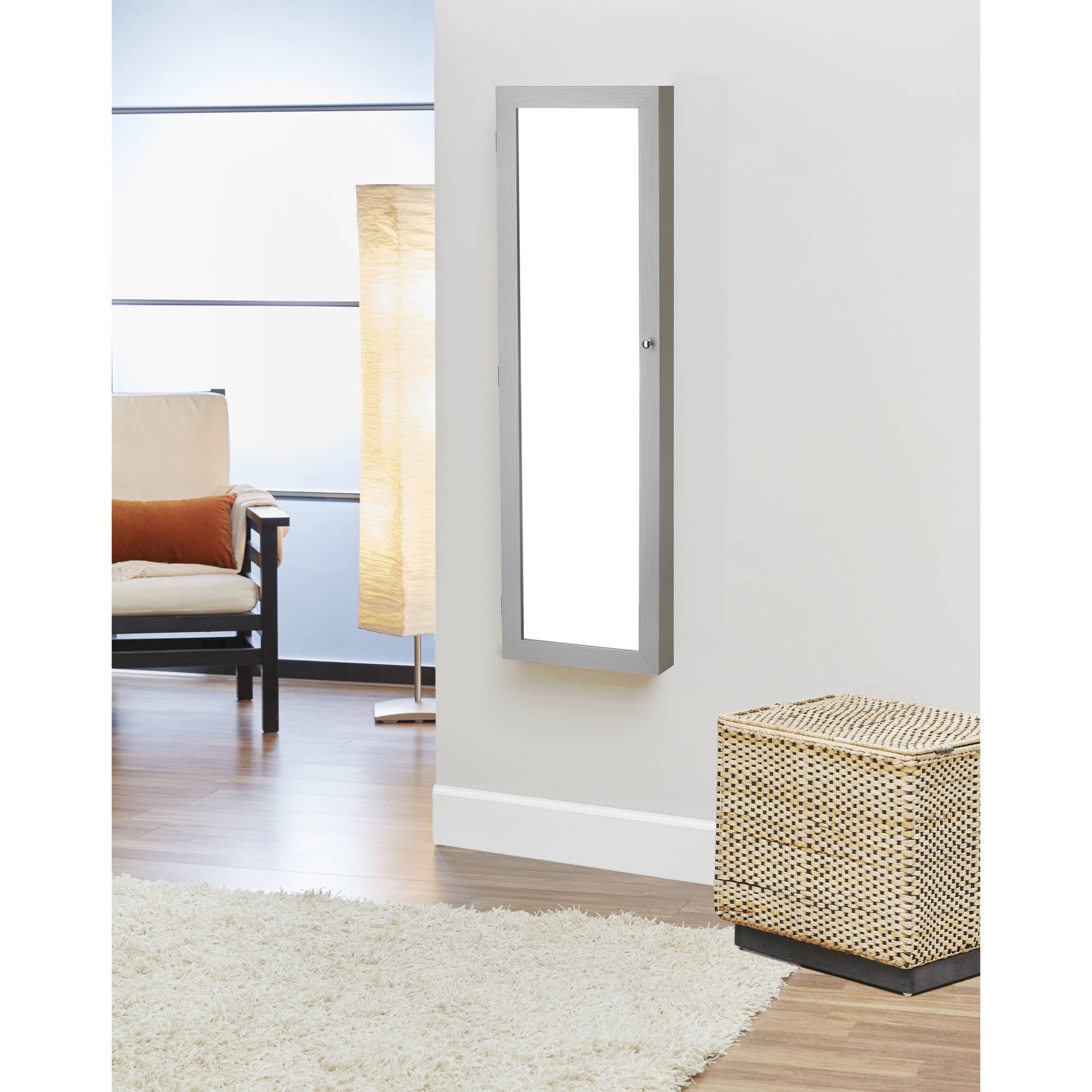InnerSpace OvertheDoorWallHangMirrored Jewelry Armoire