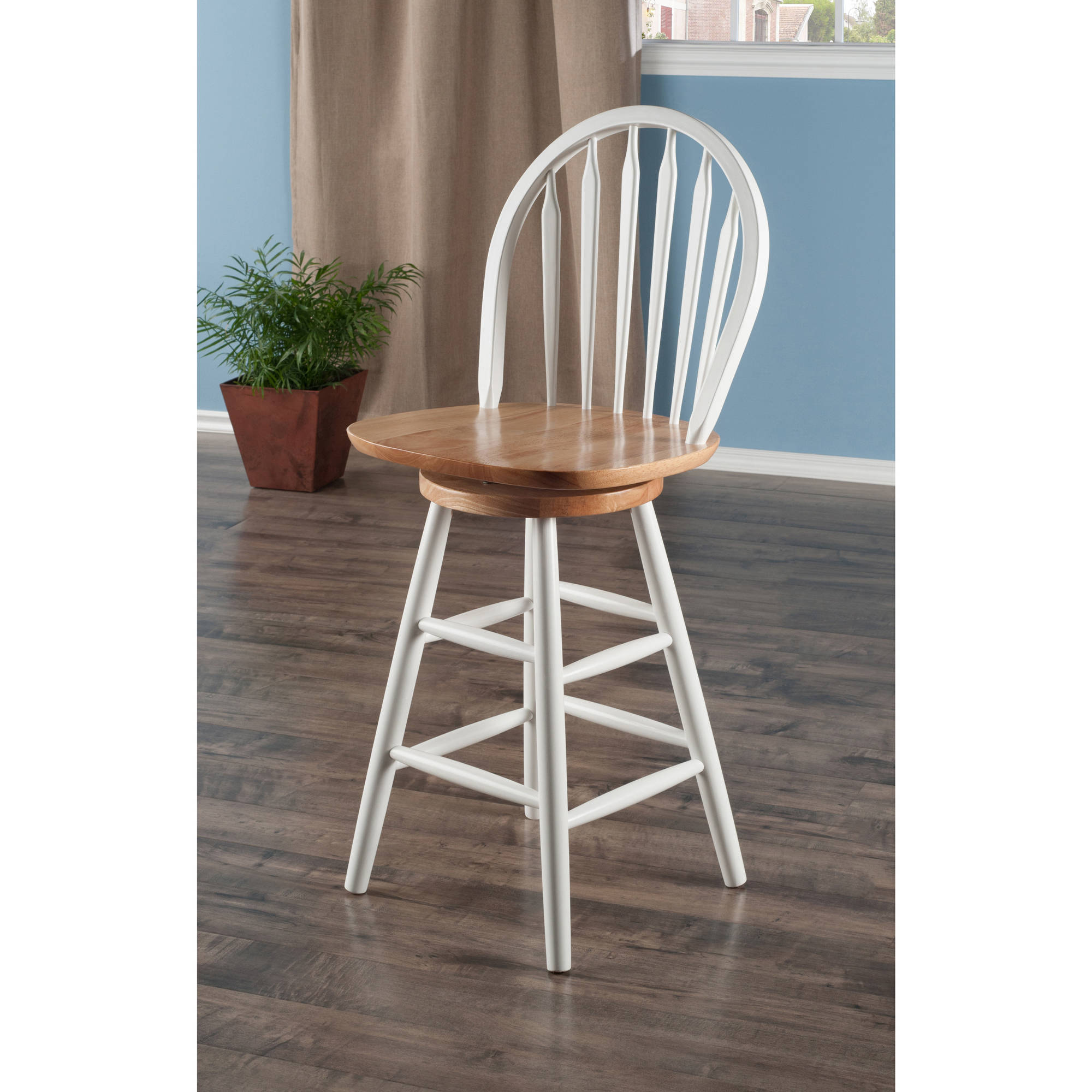 Arrowback Windsor Swivel Counter Stool 24 Multiple