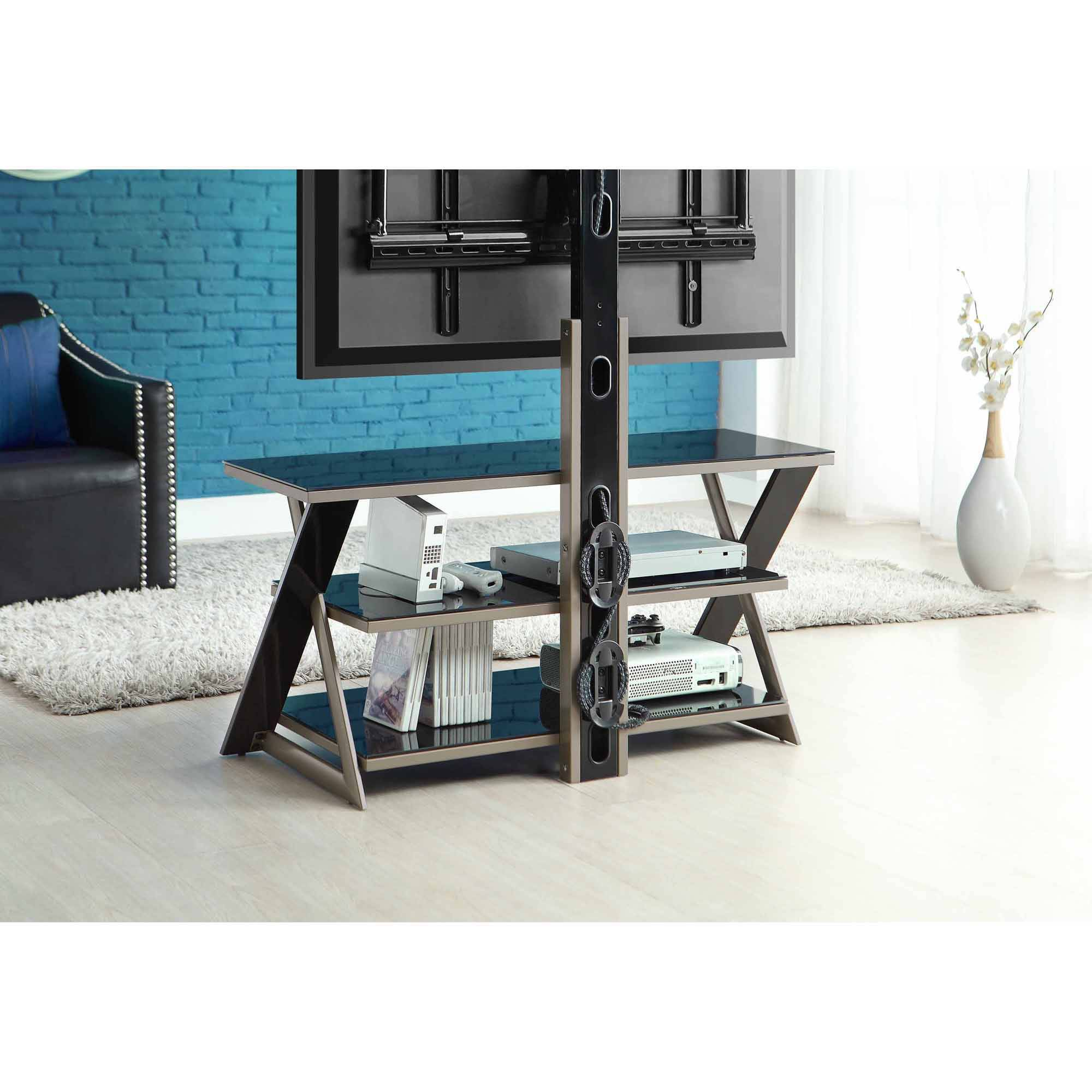 whalen 3 in 1 flat panel tv stand for tvs up to 50 ebay. Black Bedroom Furniture Sets. Home Design Ideas
