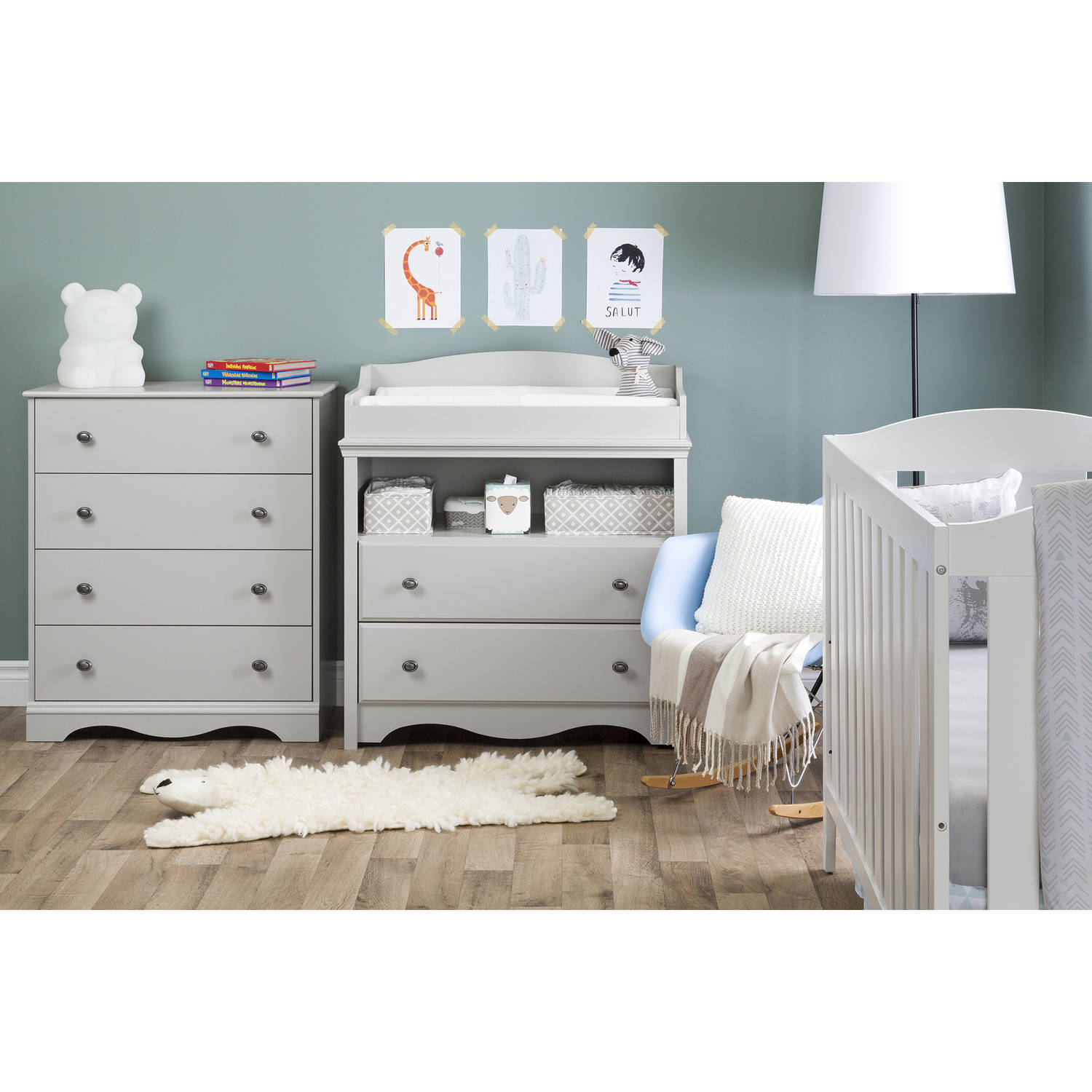 Exceptional South Shore Angel Changing Table With Drawers Multiple