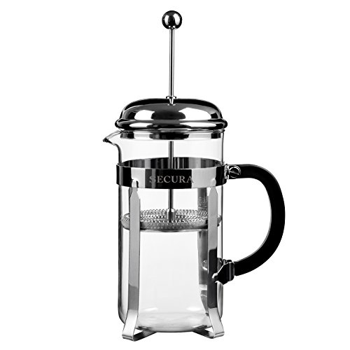 Secura 1 Liter French Press Coffee Maker, 34-Ounce, BONUS Stainle