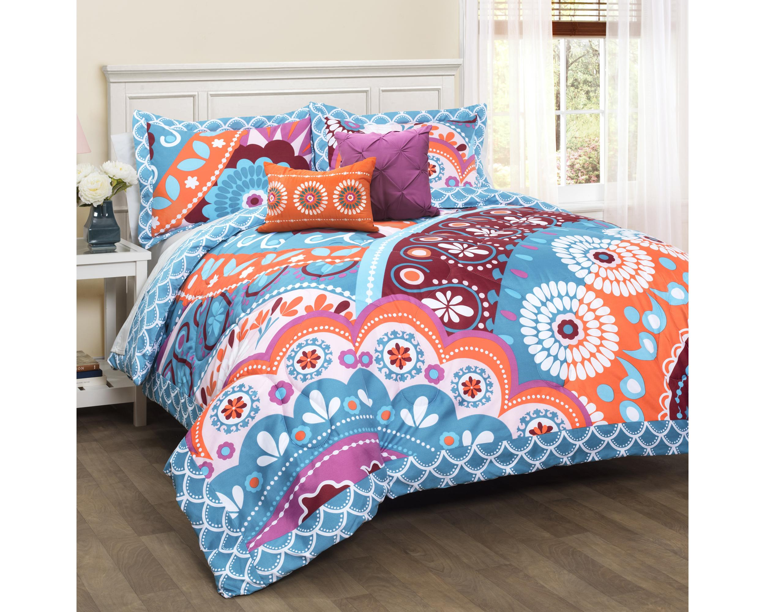 comforter plaid burgundy sets duvet bedspreads king set orange extra designs large oversized bedding