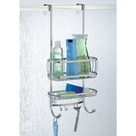 Interdesign over the door shower caddy york silver for Accessoire salle de bain design