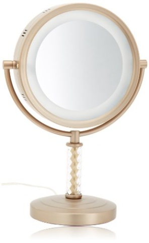 Jerdon Hl856bc 8 Inch Halo Lighted Vanity Mirror With 6x