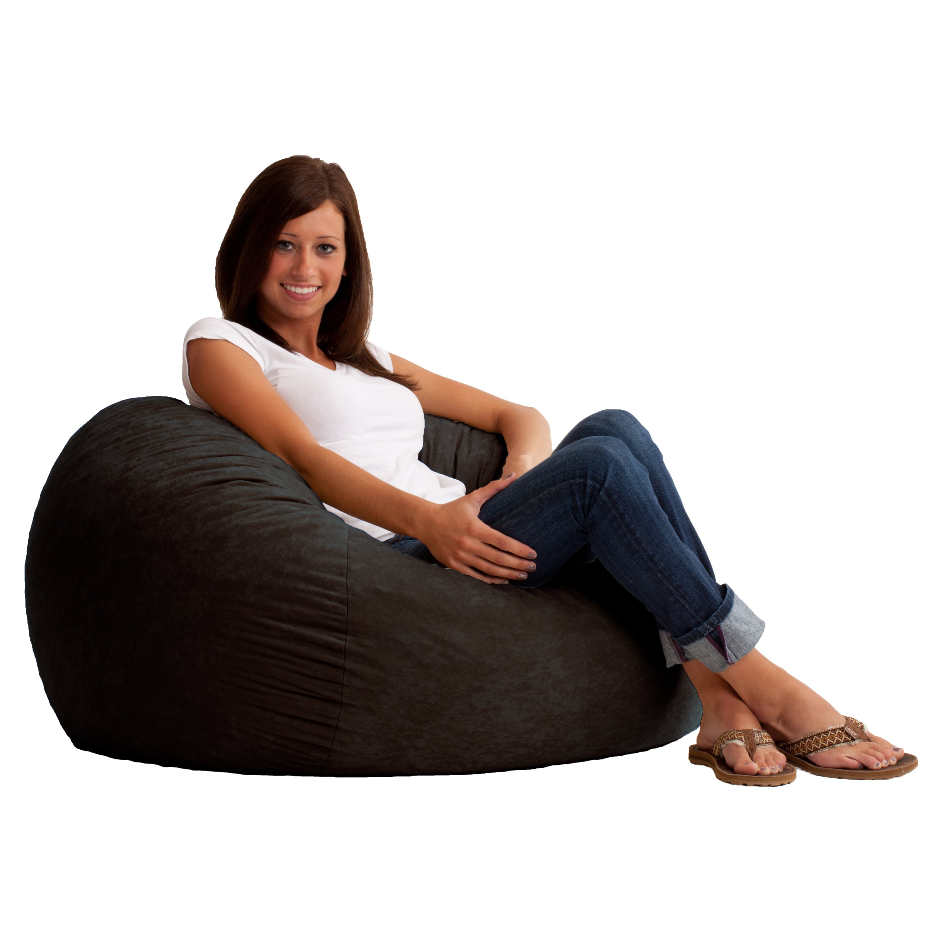 Ordinaire Image Is Loading 3 039 Fuf Comfort Suede Bean Bag Multiple