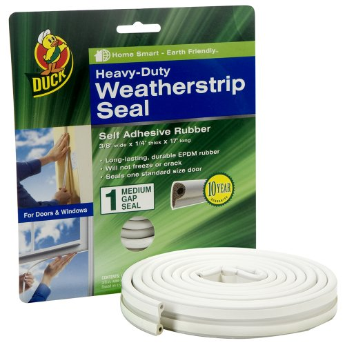 Duck brand 282435 heavy duty self adhesive rubber weatherstrip se - Weather proofing your home with weather strips and draft stoppers ...