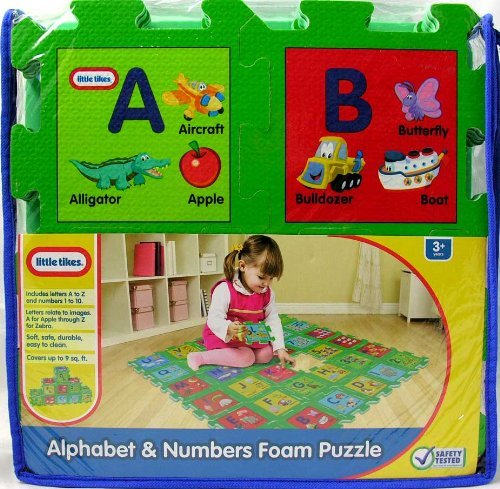 Little tikes alphabet and numbers foam mat