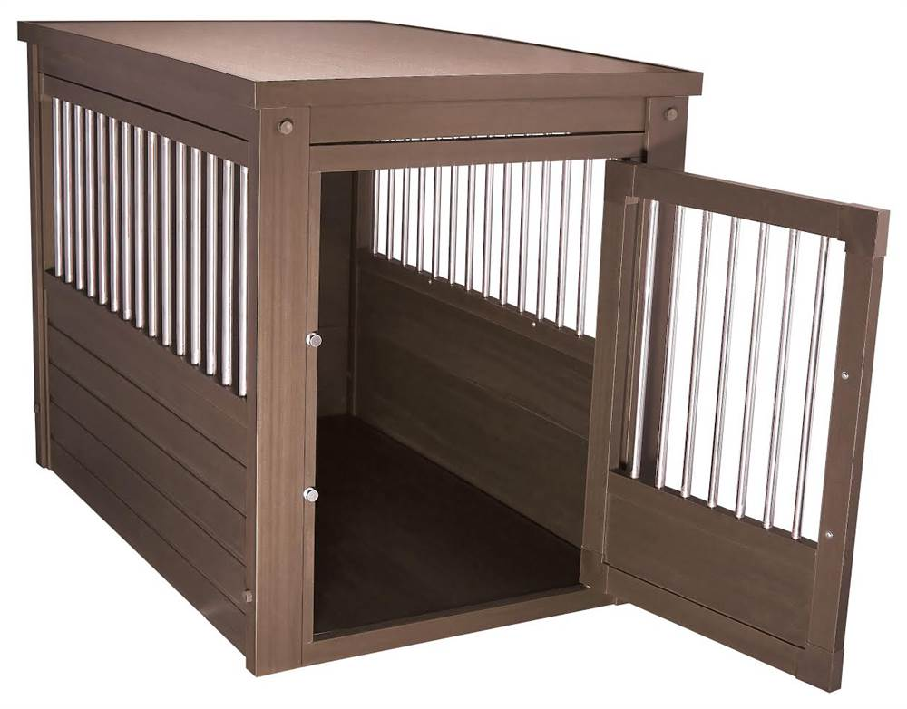 New Age Pet Ecoflex Dog Crate Endtable With Stainless