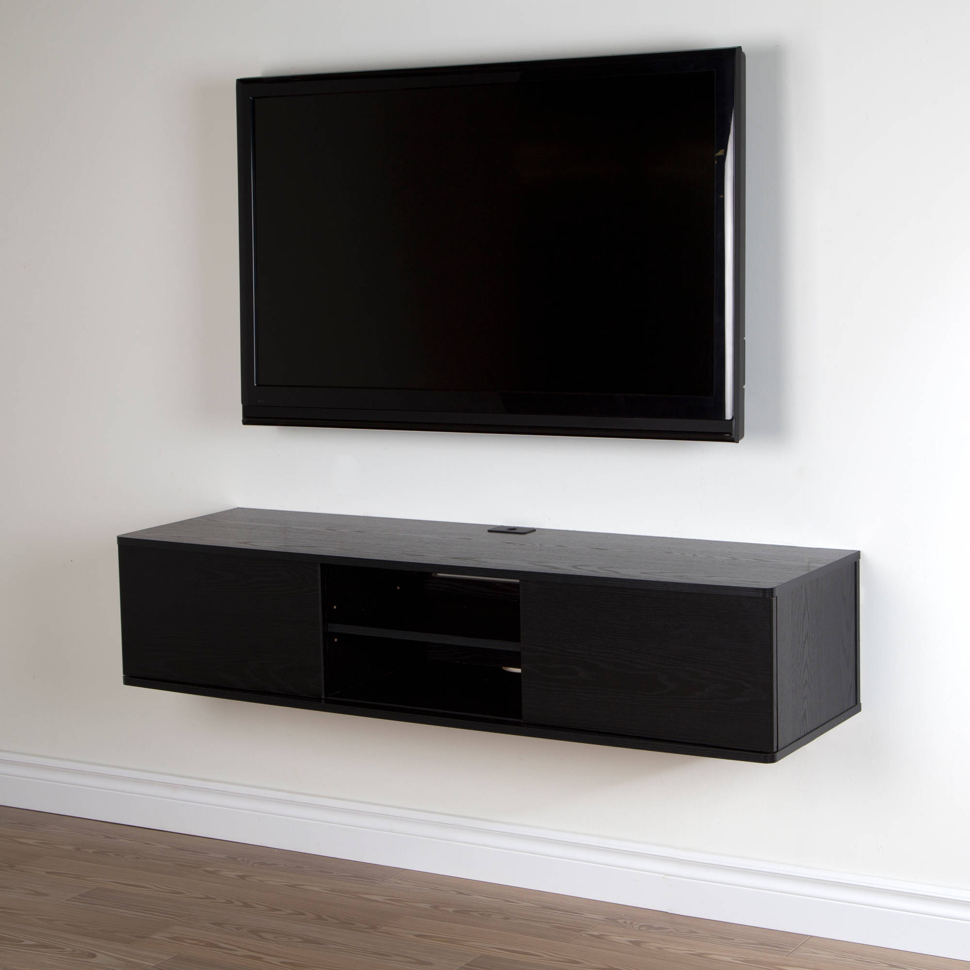 Wall mount tv console wall mounted floating tv stands woodwaves floating tv stand wall mount - Inspiration wall mounted tv cabinet ...