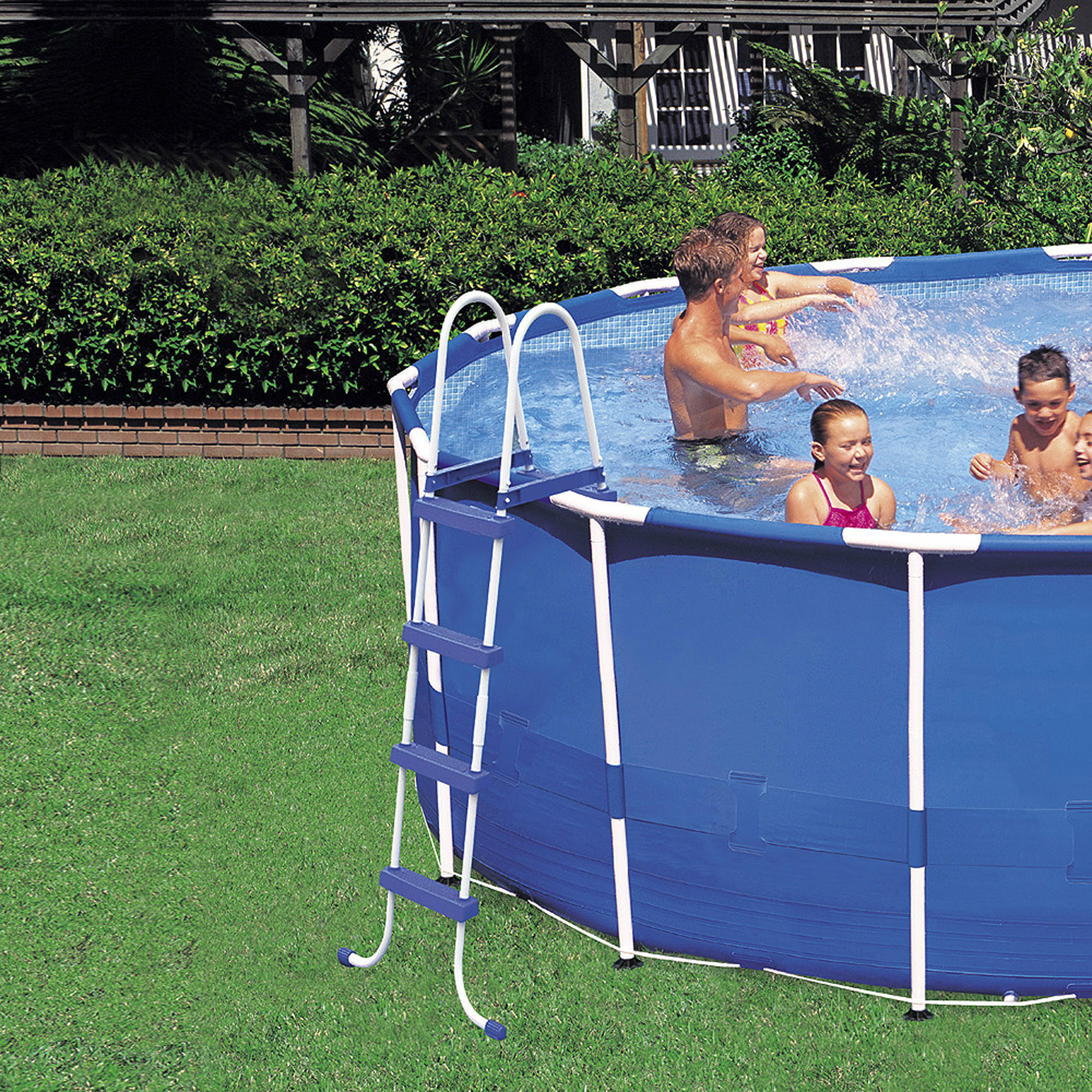 intex 15 39 x 48 metal frame swimming pool ebay. Black Bedroom Furniture Sets. Home Design Ideas