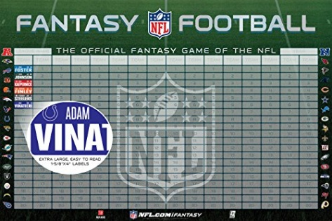fantasy football draft board template - 2014 nfl the official fantasy football draft kit