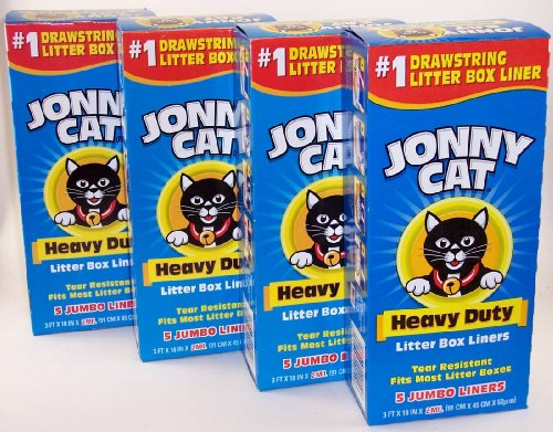 Jonny Cat Litter Box Liners Heavy Duty Jumbo 5 Per Box