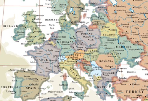 24x36 world executive wall map poster mural for Executive world map wall mural