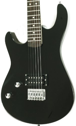 left handed beginner black electric guitar package with amp case picks strap va 711106260211 ebay. Black Bedroom Furniture Sets. Home Design Ideas