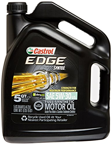 Castrol 03084 edge 5w 30 synthetic motor oil 5 quart for Synthetic blend motor oil vs conventional