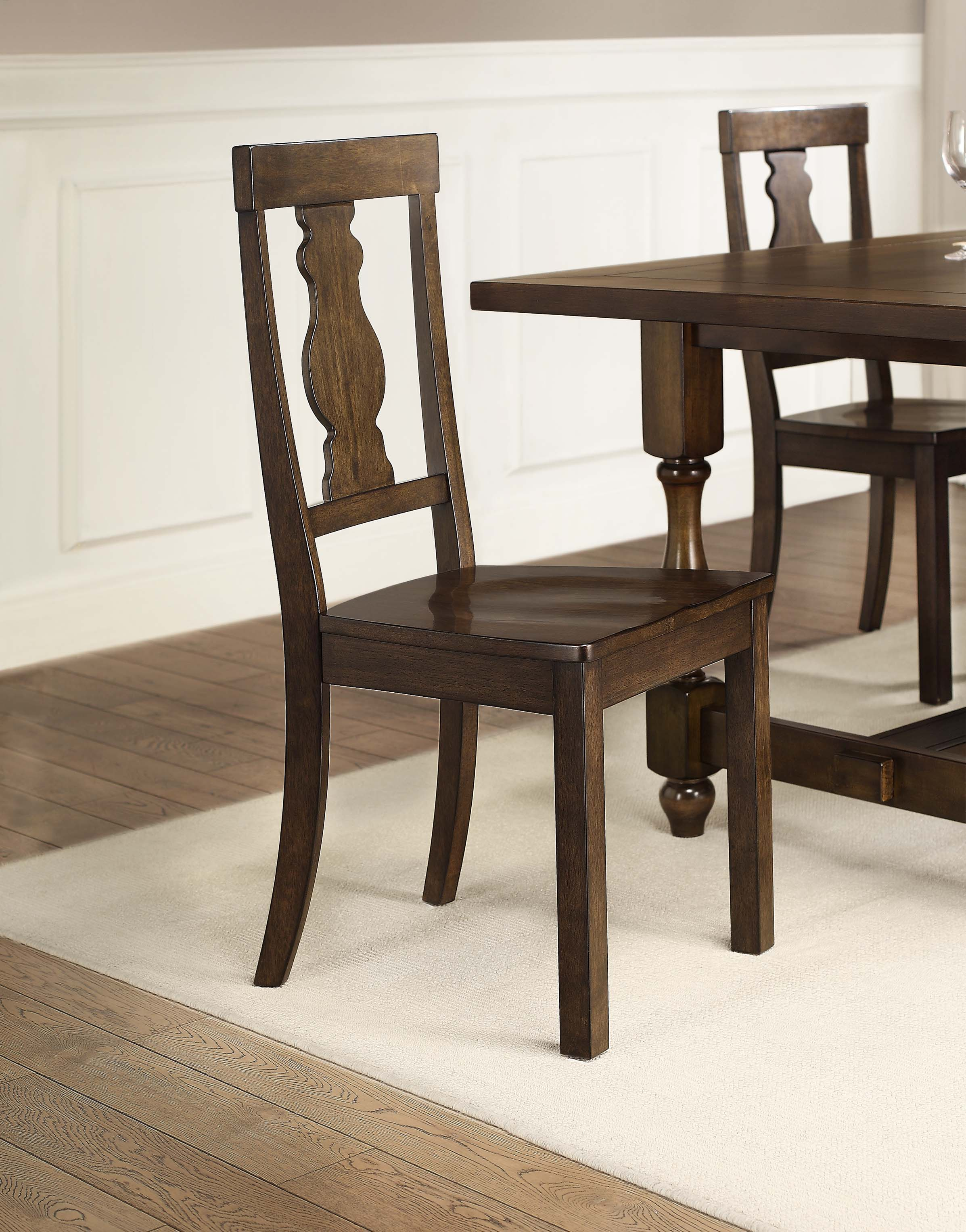 Better Homes And Gardens Providence Wood Dining Chair, Brown, Set ...