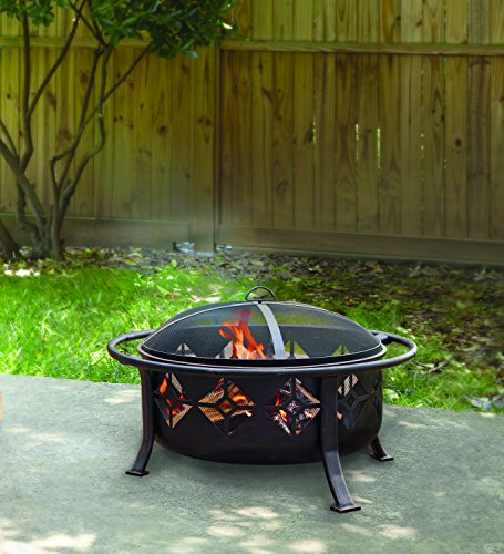 Pleasant hearth sunderland deep round bowl fire pit 36 inch for Deep pit bbq construction
