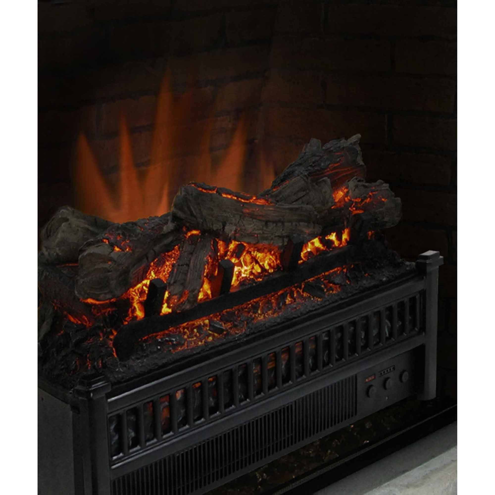 electric fireplace logs insert crackling heater with