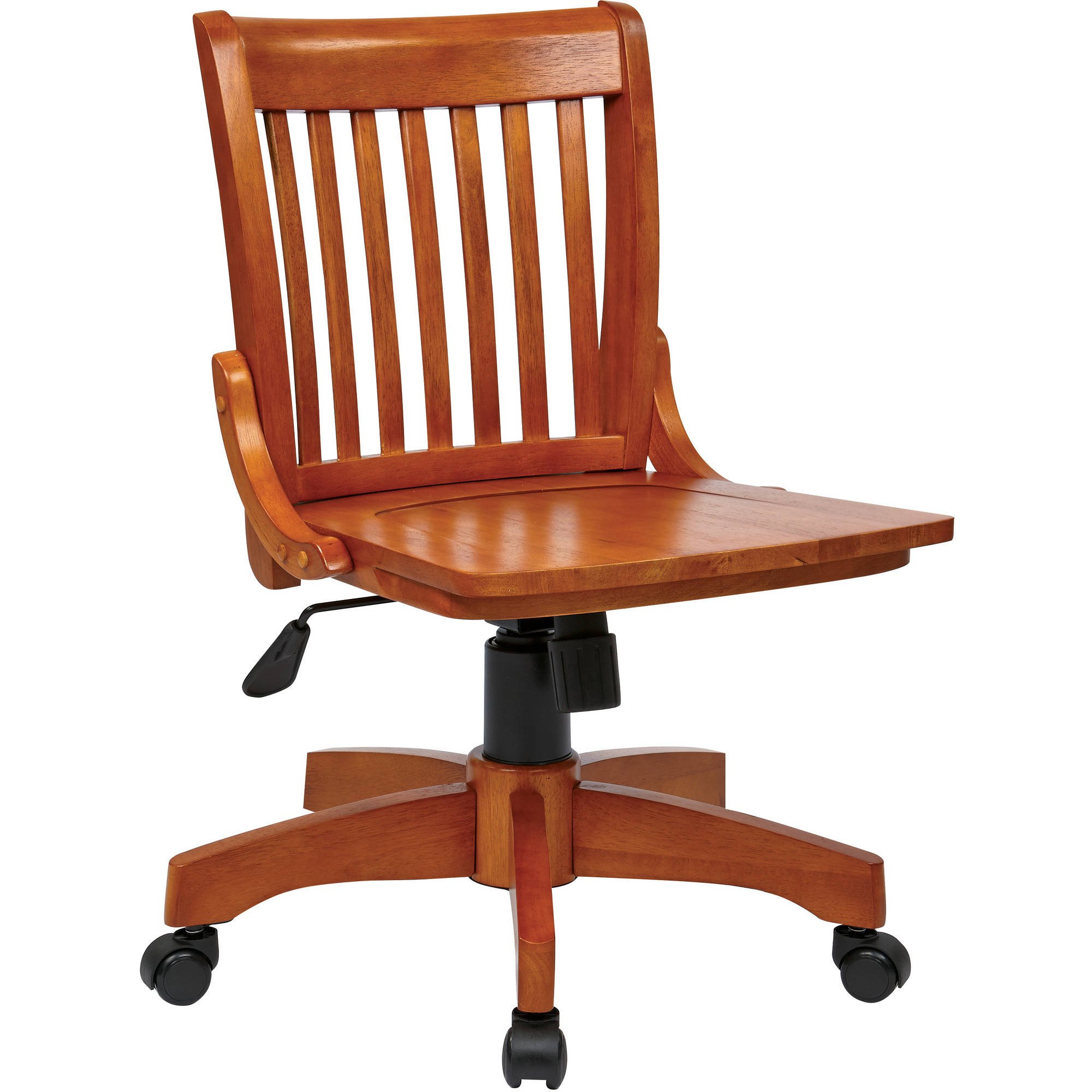 Image Is Loading Office Star Deluxe Armless Wood Bankers Chair