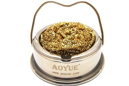 aoyue soldering iron tip cleaner with brass wire sponge no water. Black Bedroom Furniture Sets. Home Design Ideas