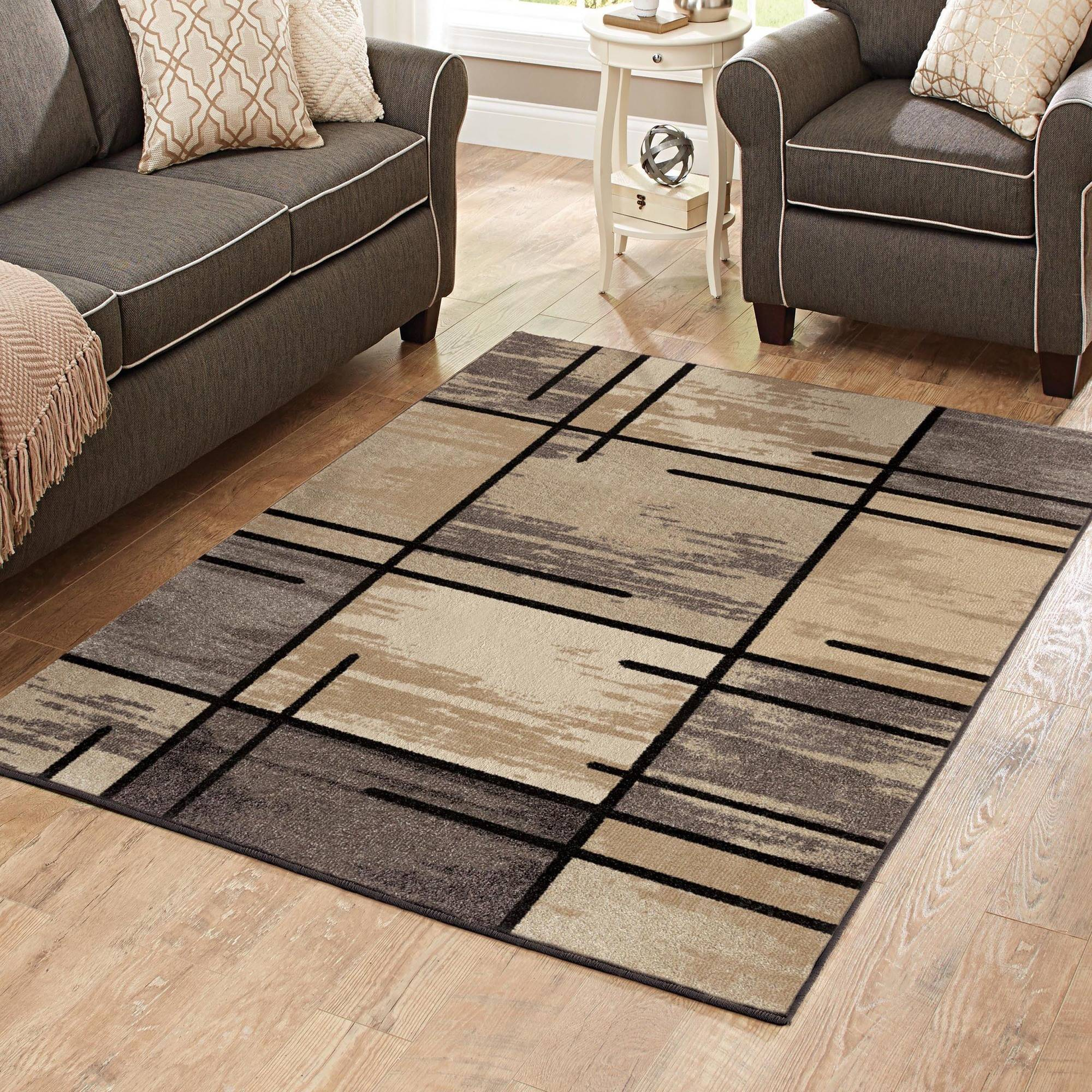 Better homes and gardens spice grid area rug ebay - Better homes and gardens iron fleur area rug ...