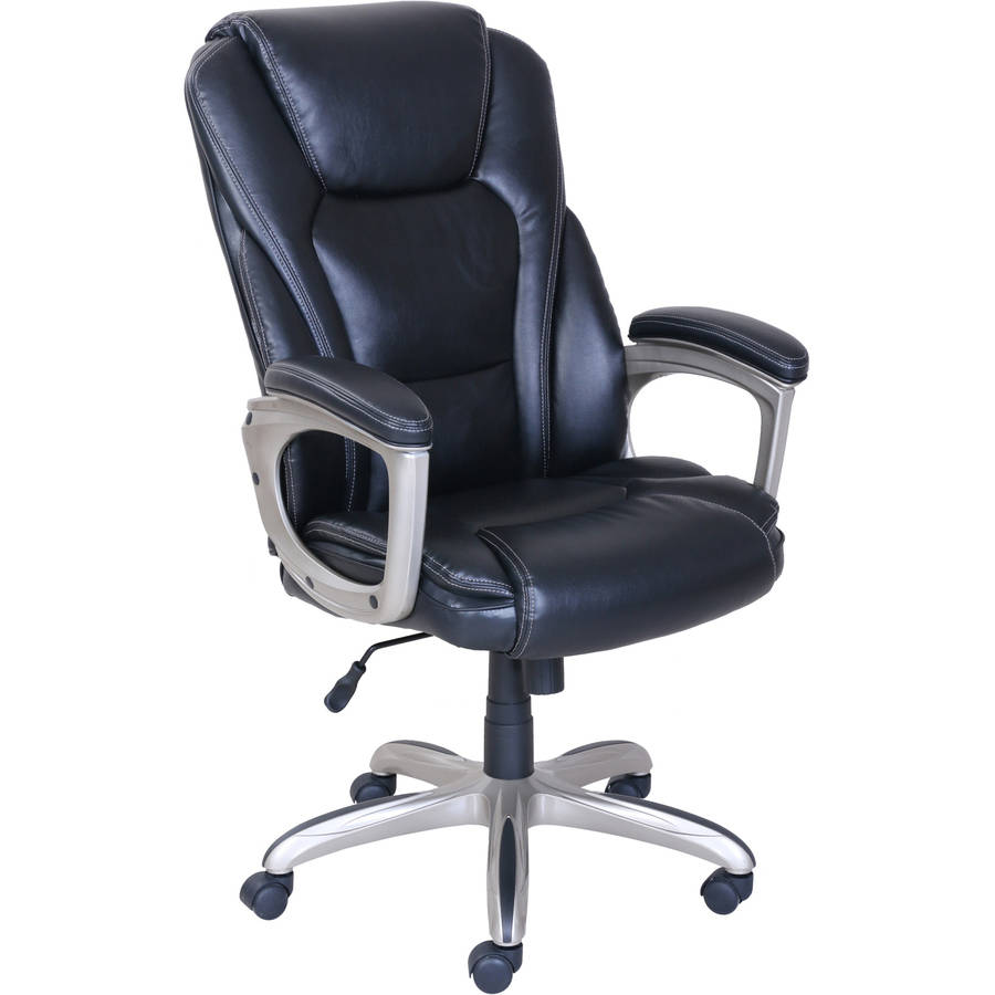 office com puresoft leather executive ip serta walmart chair mesh faux black with