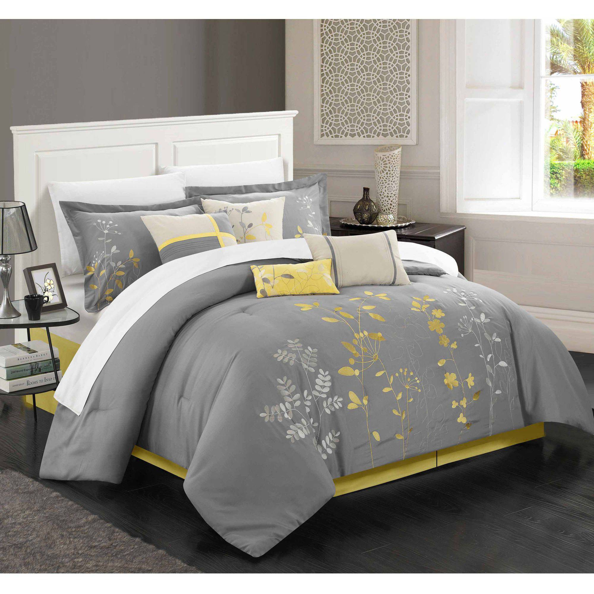 Chic Home Fortuno 8-Piece Embroidered Comforter Set