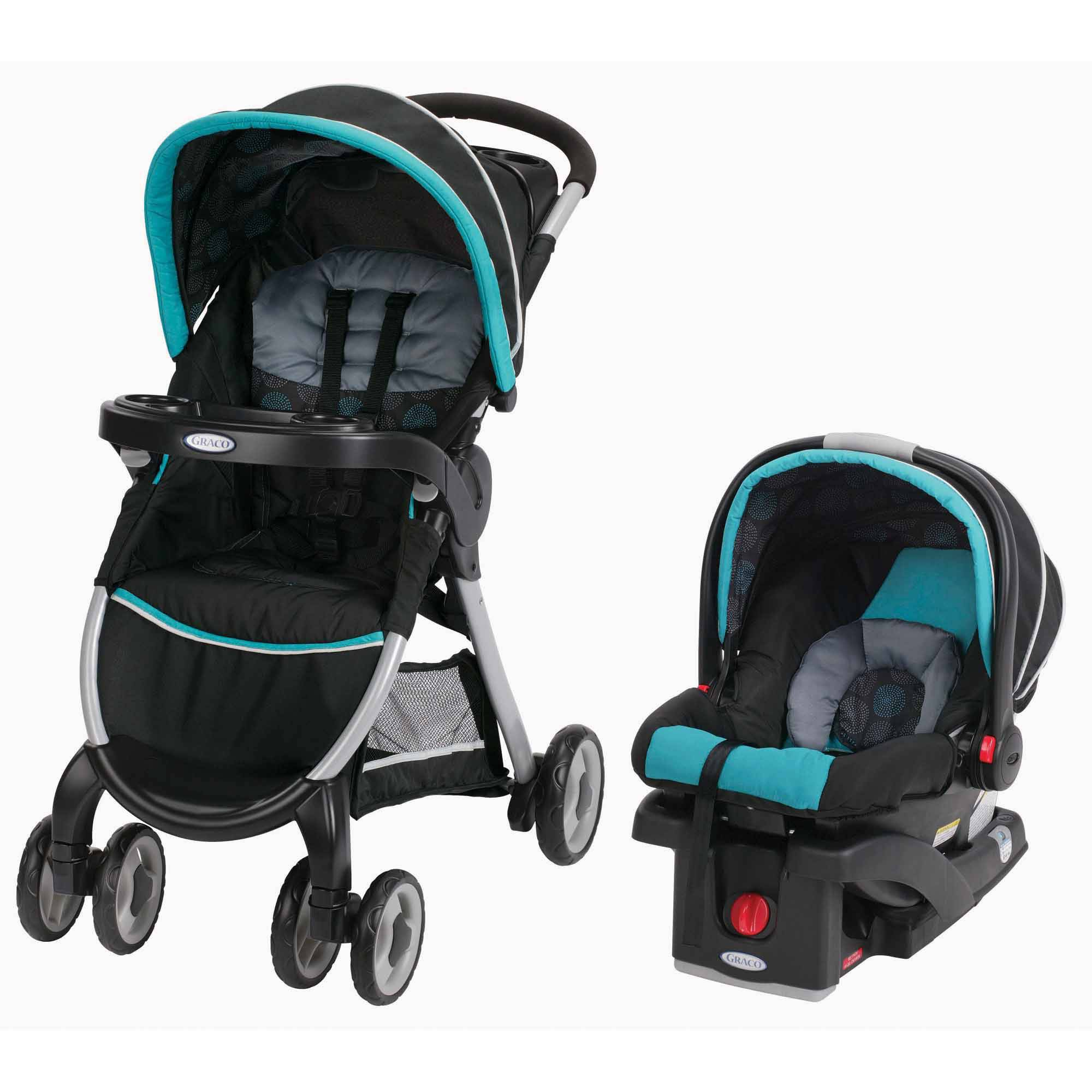 Graco FastAction Fold Click Connect Travel System, Car Seat Stroller ...
