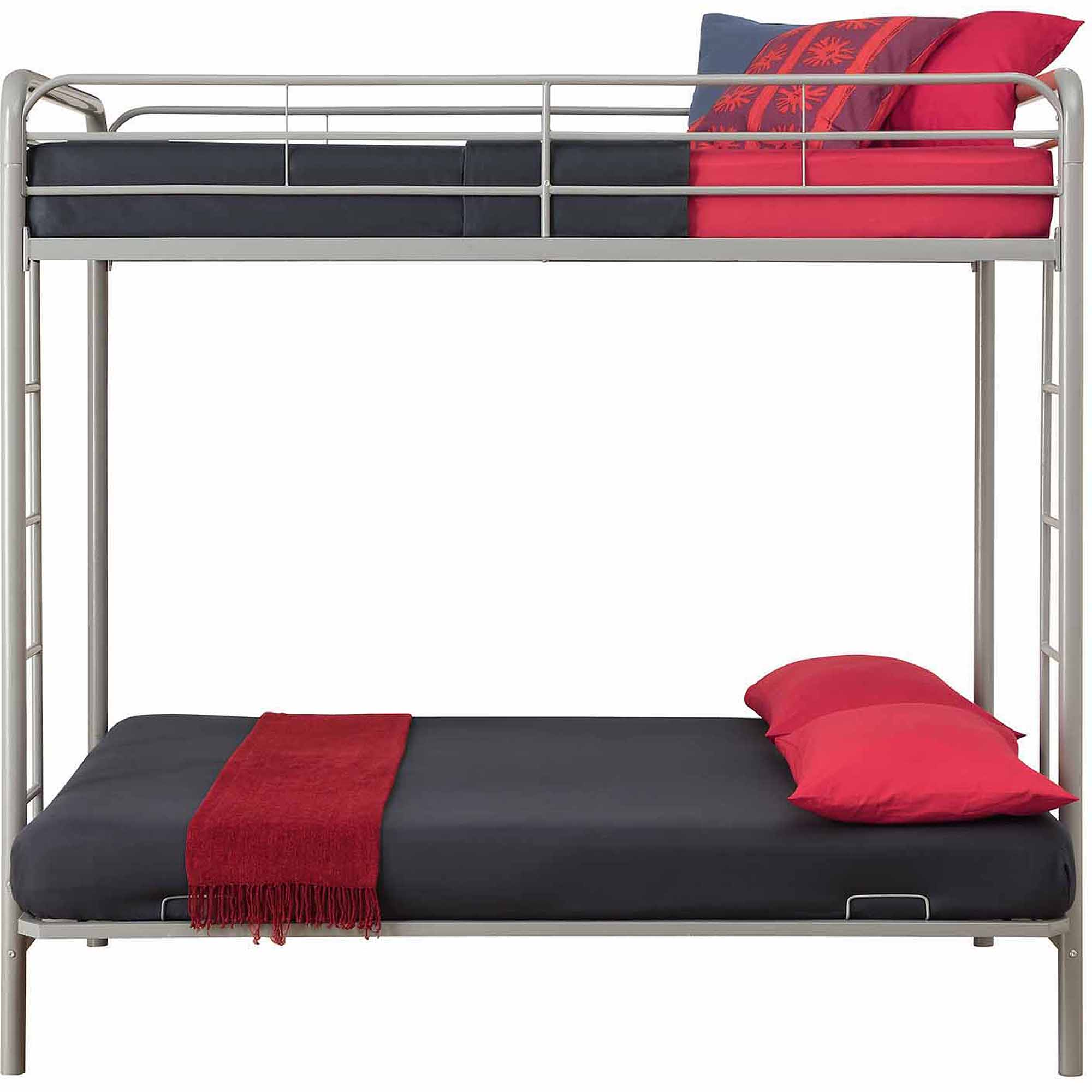 Dhp Over Futon Metal Bunk Bed Silver