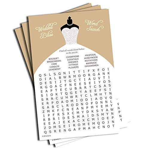 Wedding word find search game bridal shower champagne for Gardening tools 94 game answers