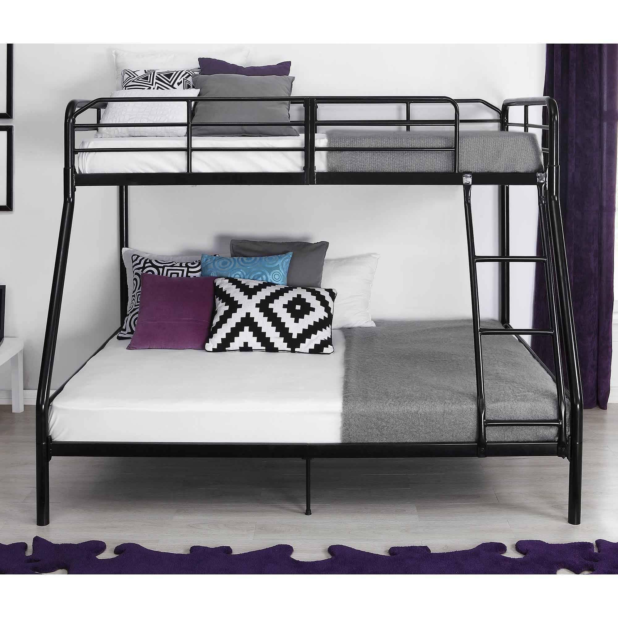 twin over full metal bunk bed w ladder kids bedroom furniture dorm loft ebay. Black Bedroom Furniture Sets. Home Design Ideas