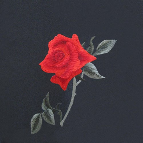 King silk art handmade embroidery valentines red rose