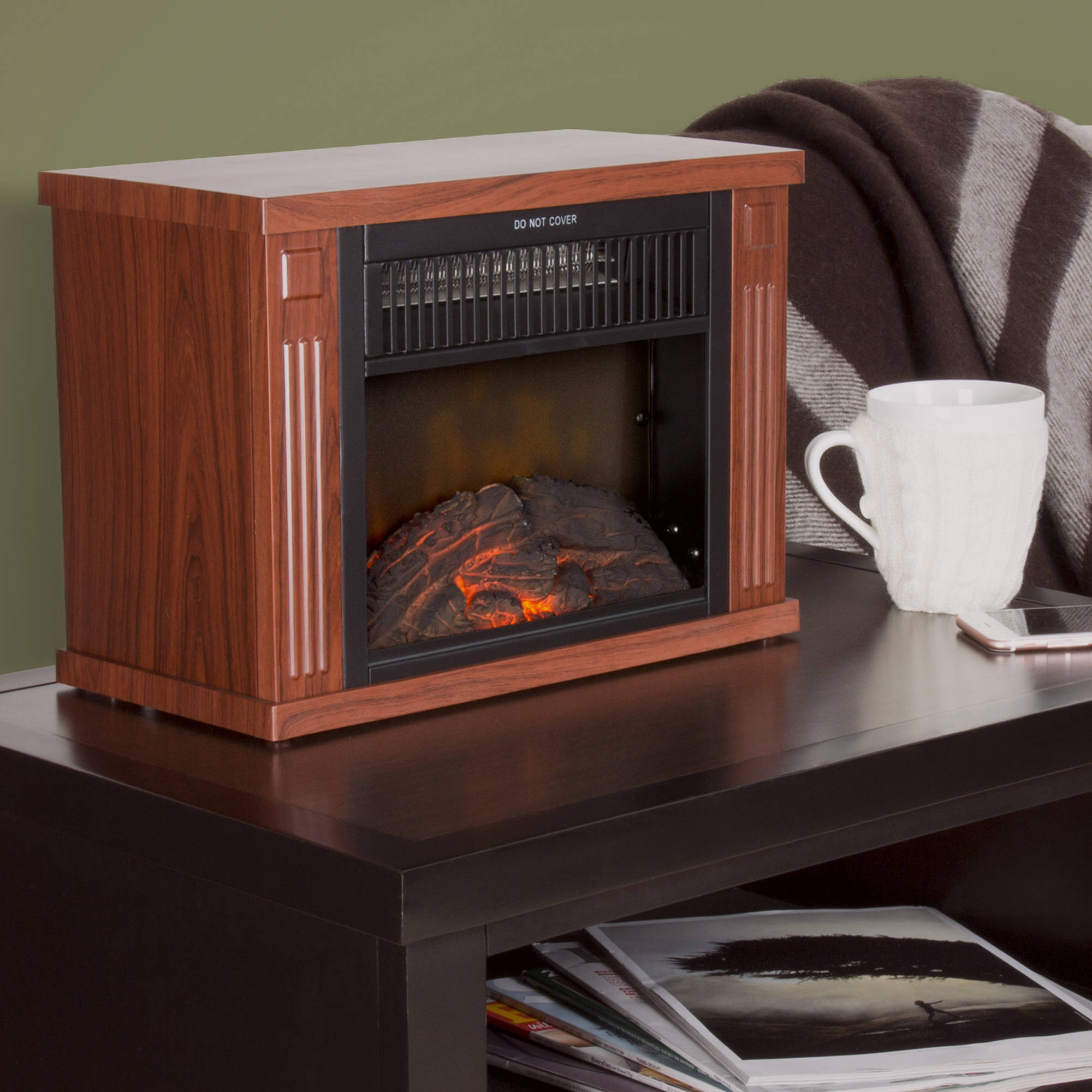 Superbe Northwest 13 034 Portable Mini Electric Fireplace Heater