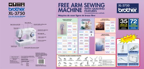 brother xl3750 sewing machine manual