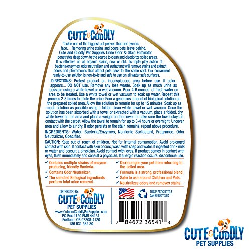 Cute and Cuddly - Premium Pet Odor and Stain Removal Spray ...