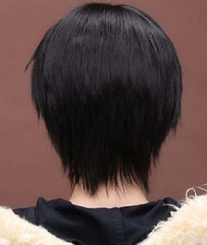 Amybria Men S Beautiful Male Black Short Straight Hair Wig