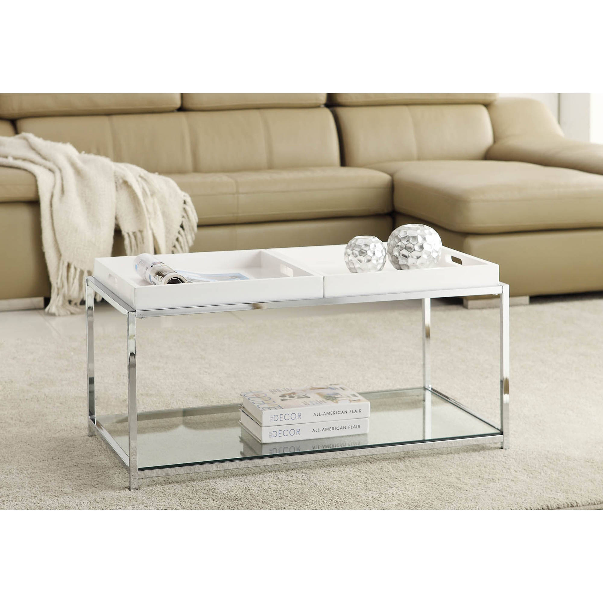Coffee Table Tray Ebay: Convenience Concepts Palm Beach Coffee Table With Trays