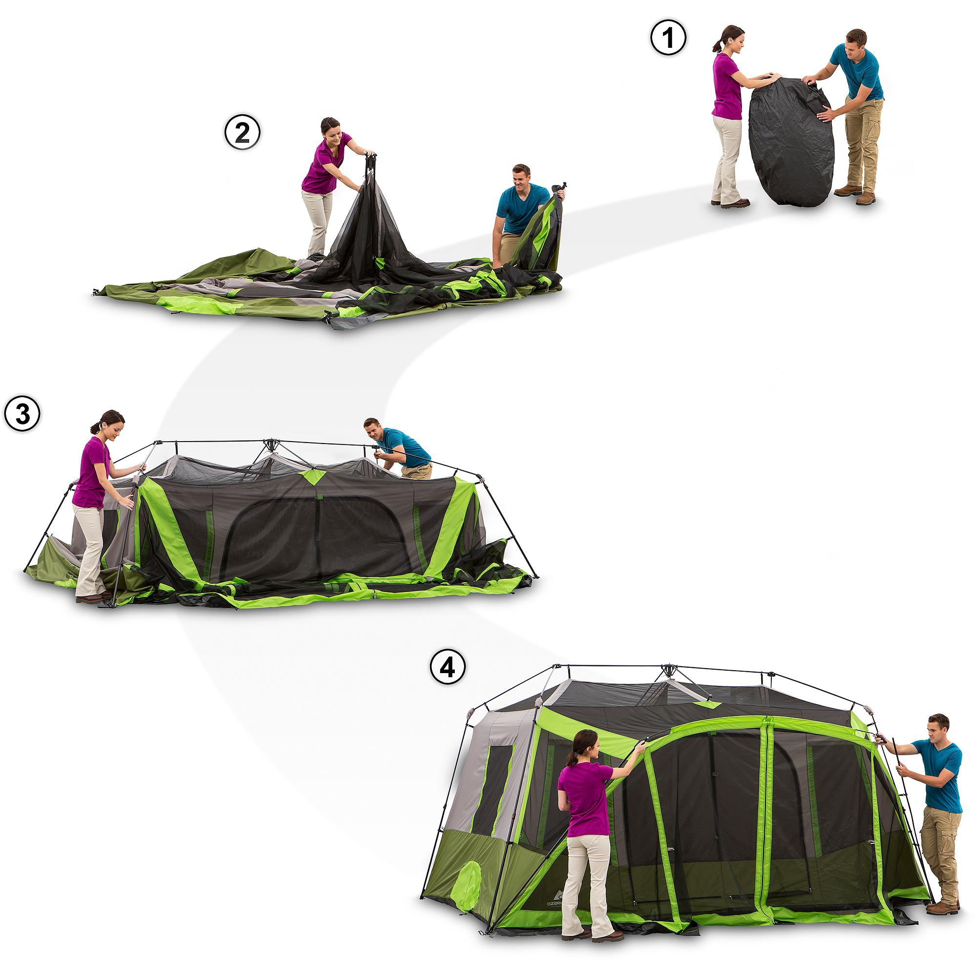 Ozark trail 6 person instant cabin tent instructions