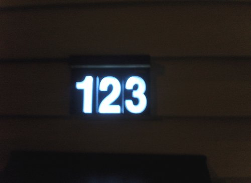 Sundigits 3 digit solar led house number Led house numbers