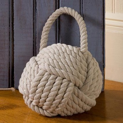 Monkey 39 s fist sailors knot rope door stop - Knot door stopper ...