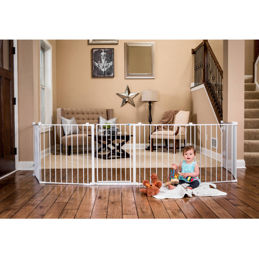 regalo inch super wide configurable baby gate and panel play  - img