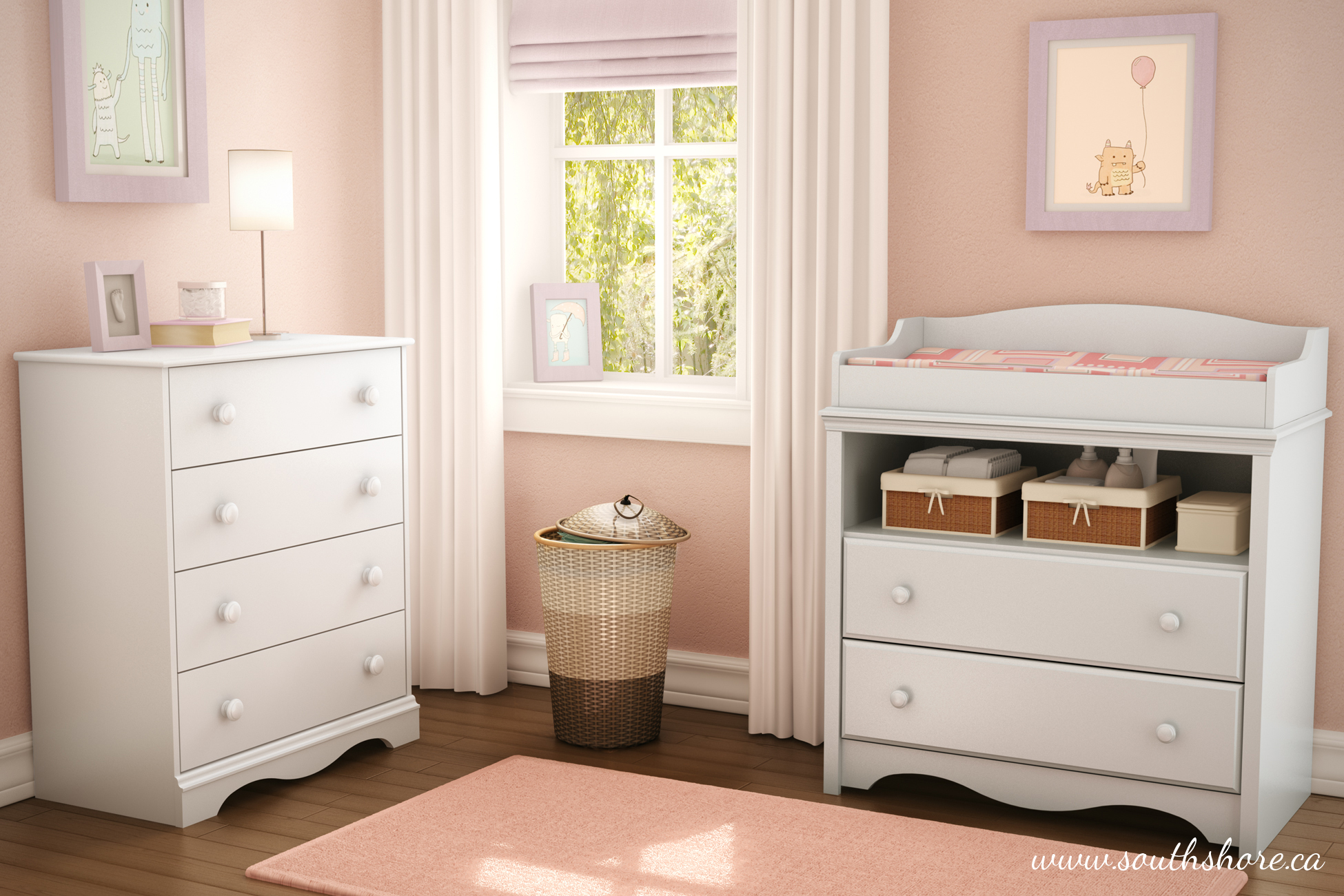 Superb South Shore Angel Changing Table With Drawers Multiple
