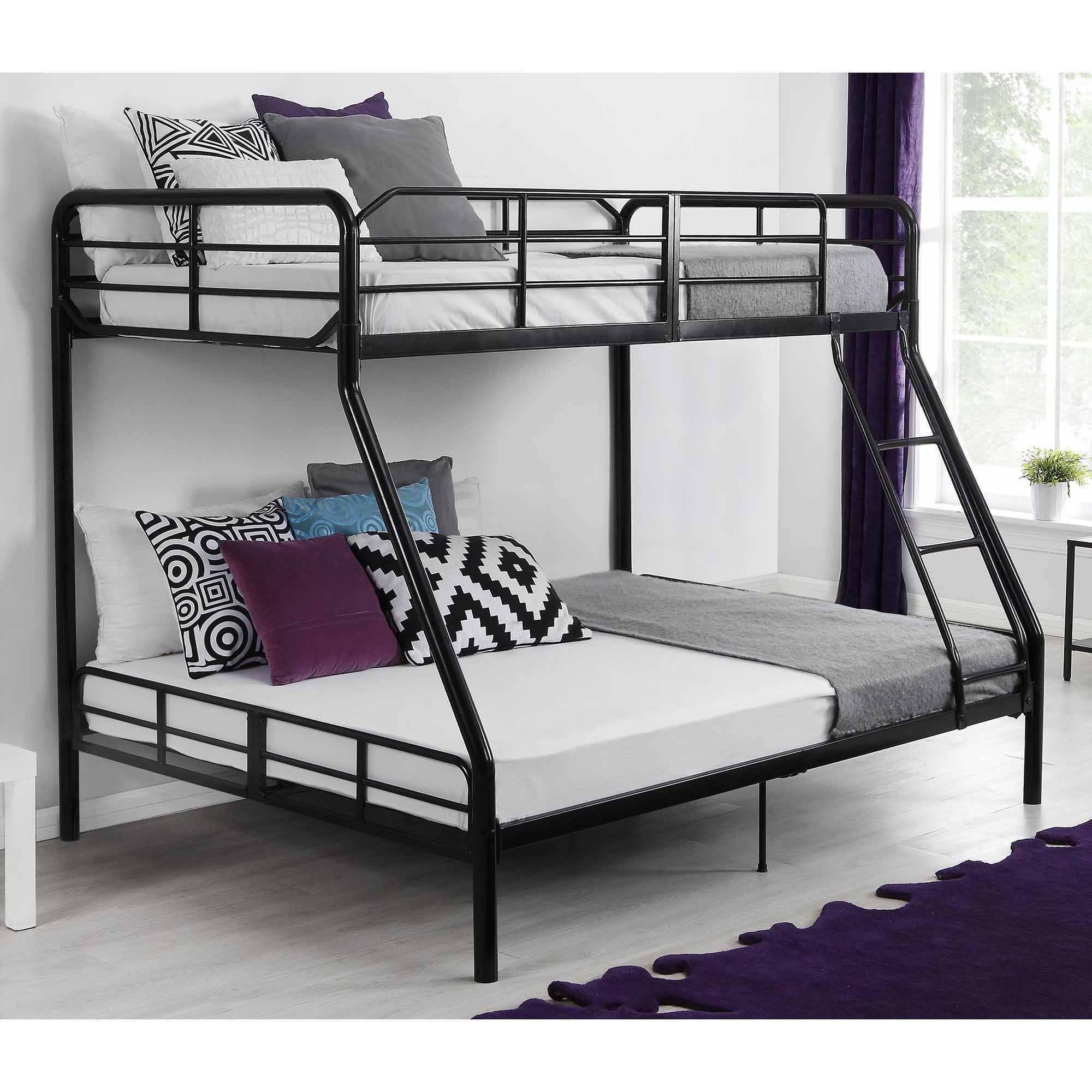 Metal bunk beds full over full - Click Thumbnail To Enlarge Contemporary Design Sturdy Metal Frame Secured Front Ladder The Mainstays Twin Over Full Bunk Bed