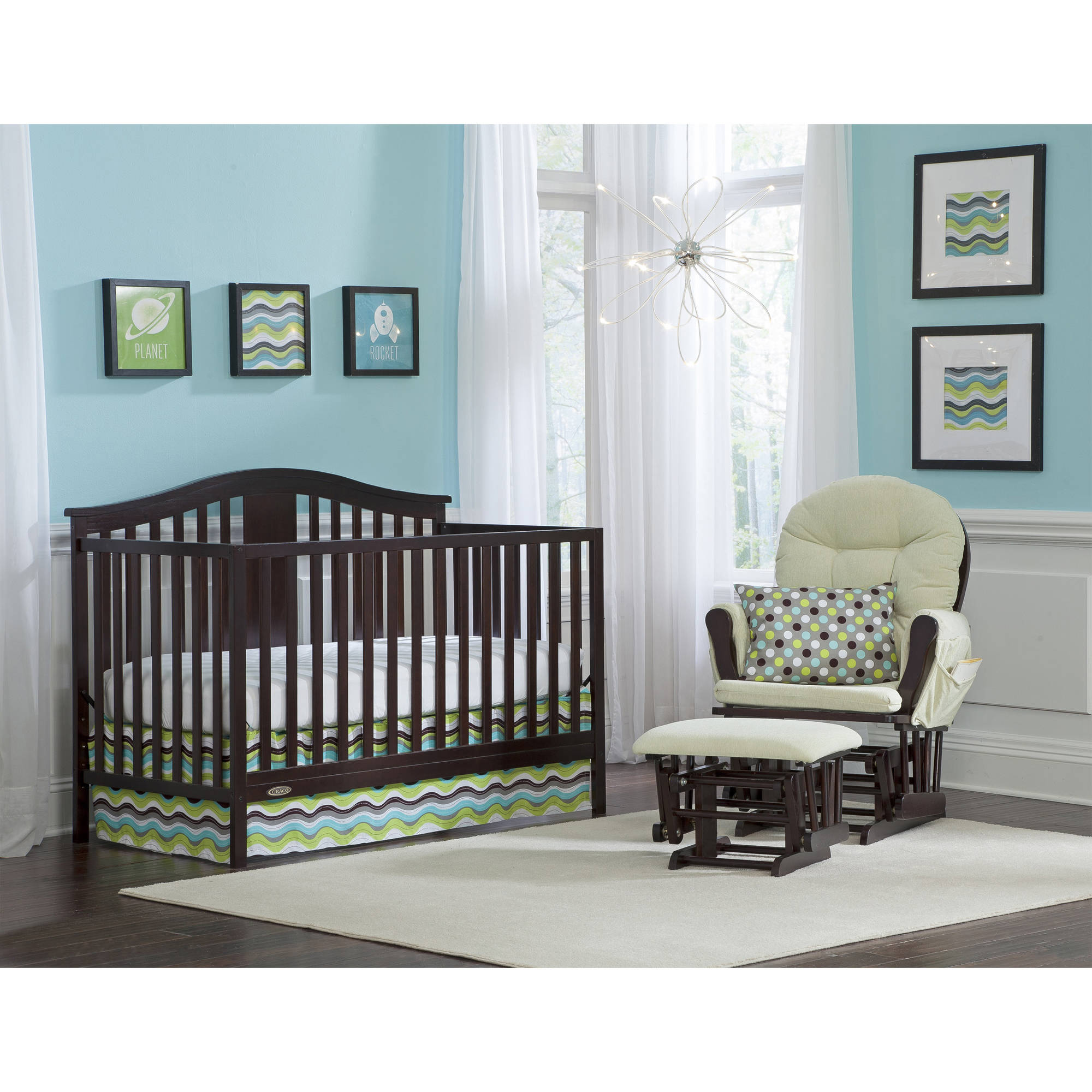 graco solano 4-in-1 convertible crib and bonus mattress, multiple