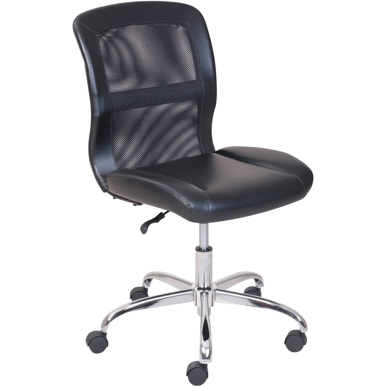 Mainstays Vinyl and Mesh Task Chair Multiple Colors Black eBay